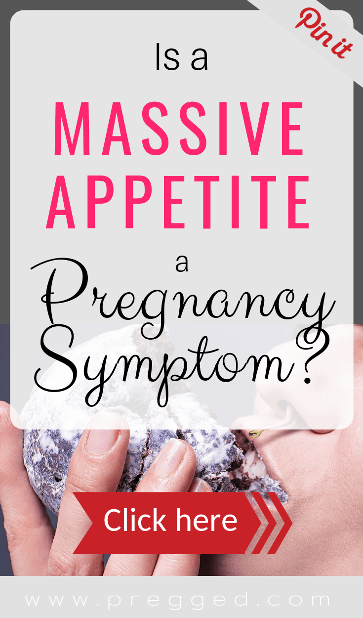 Can't stop eating and wondering if it's a sign of pregnancy? Find out if it is here...