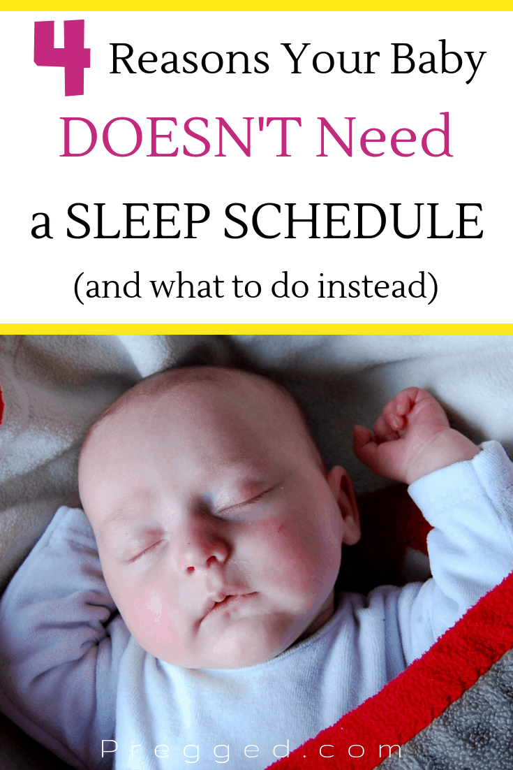 Have you been brainwashed into believing your baby needs to be on a sleep schedule? The truth is trying to implement sleep schedules create a lot of stress and anxiety for both mom and baby. Learn why a schedule is not the answer and what you can do instead...#baby #babycare #newbornbaby #sleepschedule #sleeptraining