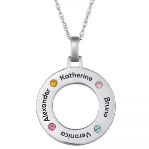 Pendant with children's names