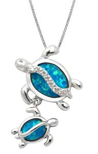 Mother and baby turtle pendant