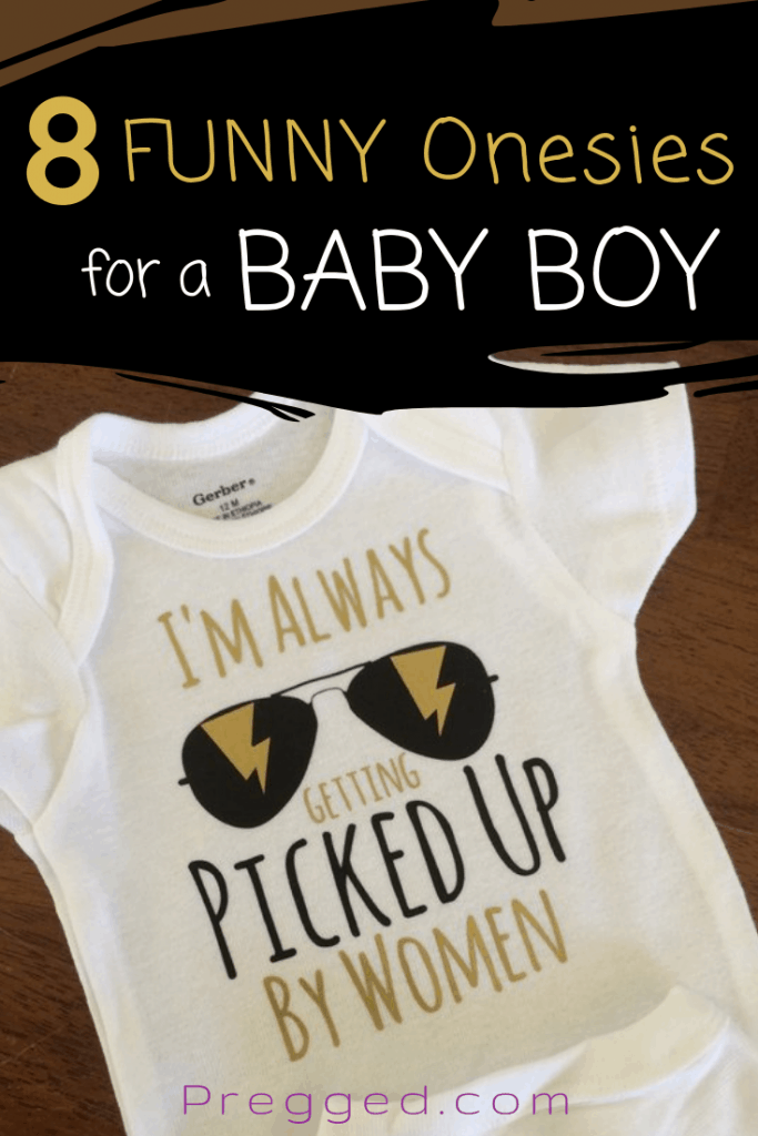 These 8 funny baby onesies for boys will really make you laugh! They make such a great baby shower gift, christmas or birthday gift. Not for the serious among you! #babyonesies #babyclothes #funnyrompers #babyclothesideas