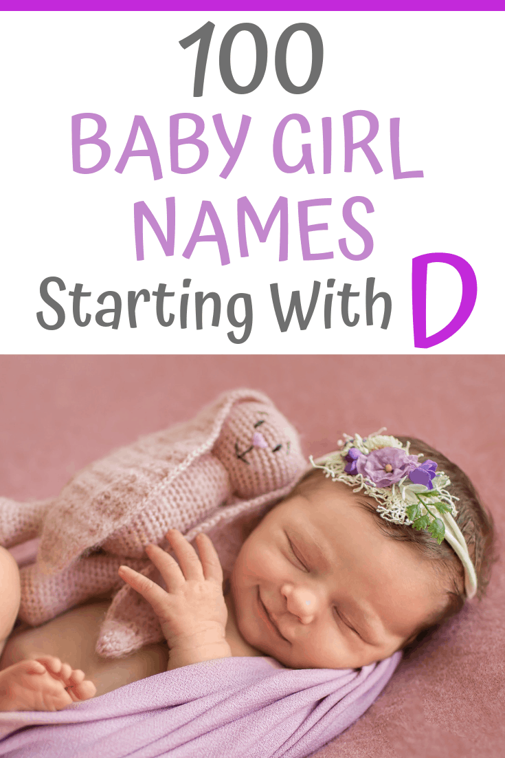 Need some baby name inspiration? Here's a great collection of baby girl names starting with the letter D. They include modern, traditional and unique ideas. We're sure you'll find something really special here to match your precious little girl... #babynames #girlnames #girlnameideas
