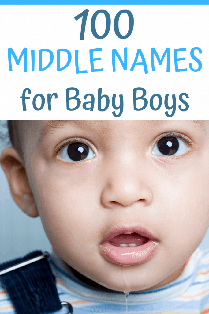 Need some middle name ideas for your baby boy? Here are 100 middle names for you to choose from...#babynames #babynameideas #middlenames #middlenameideas #boynameideas